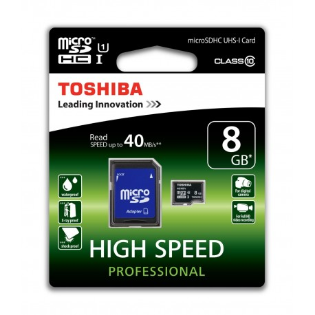 Carte Micro SD Toshiba 8GB
